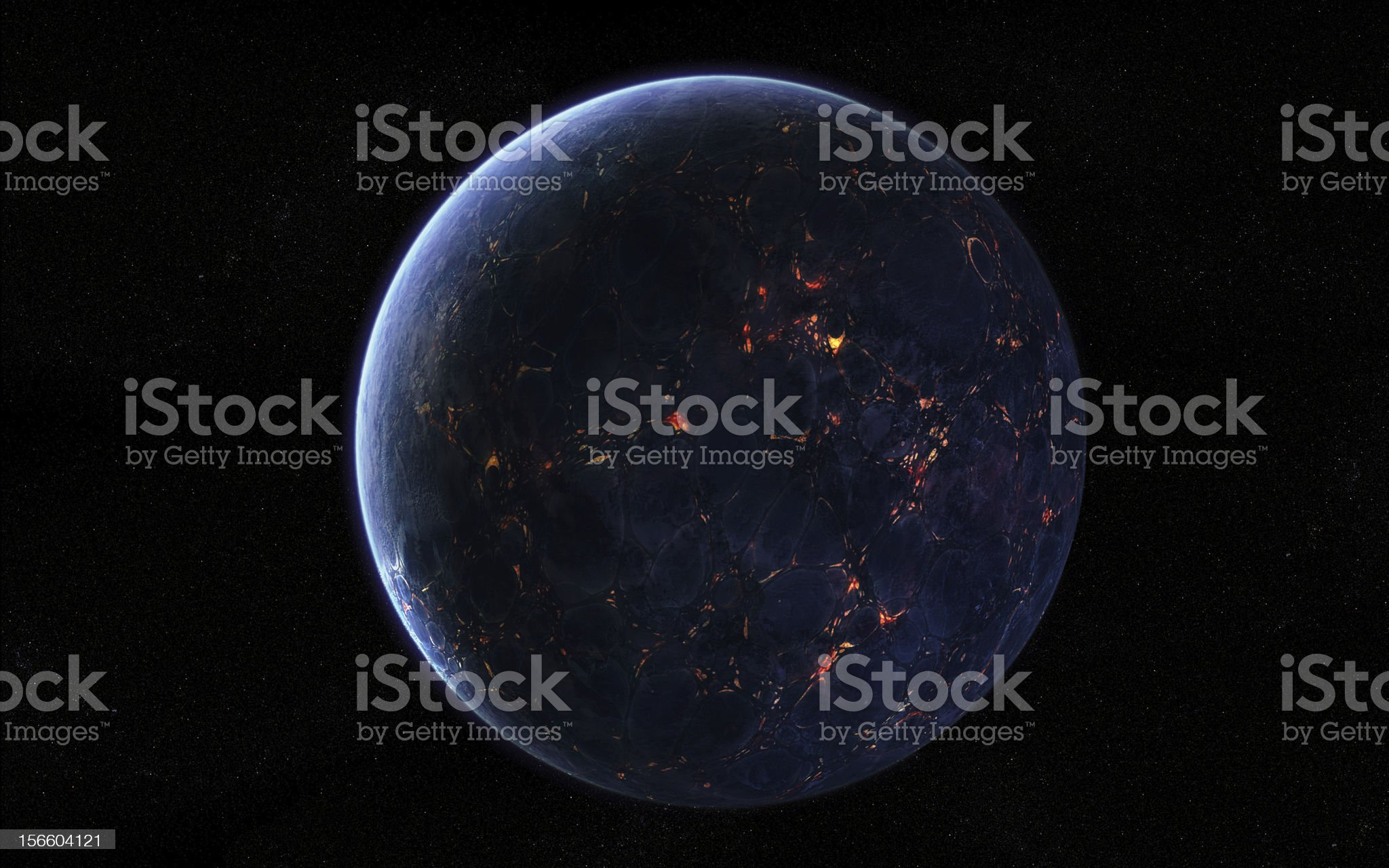 Extraterrestrial Planet royalty-free stock photo