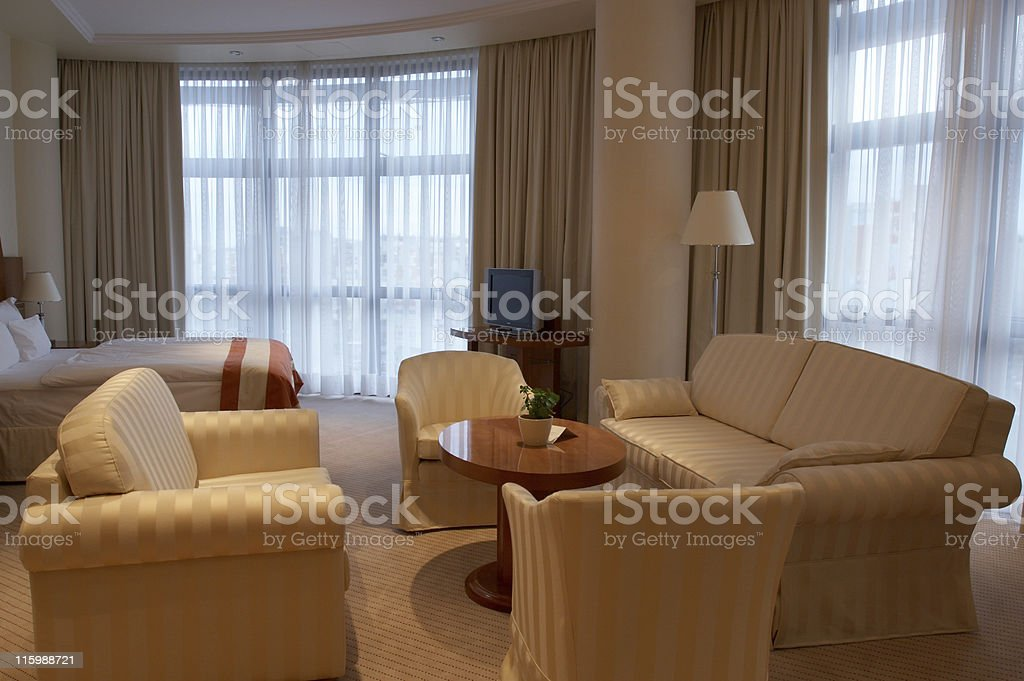 Extravagant hotel room royalty-free stock photo