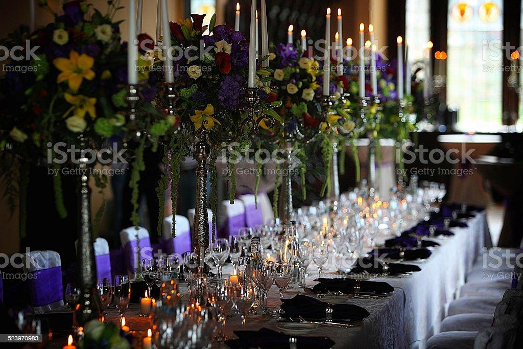 Extravagant Table Setting stock photo