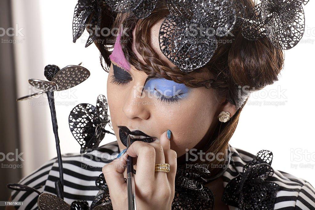 Extreem Makeup stock photo