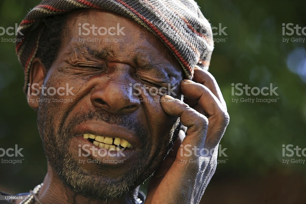 Extreme anxiety stock photo