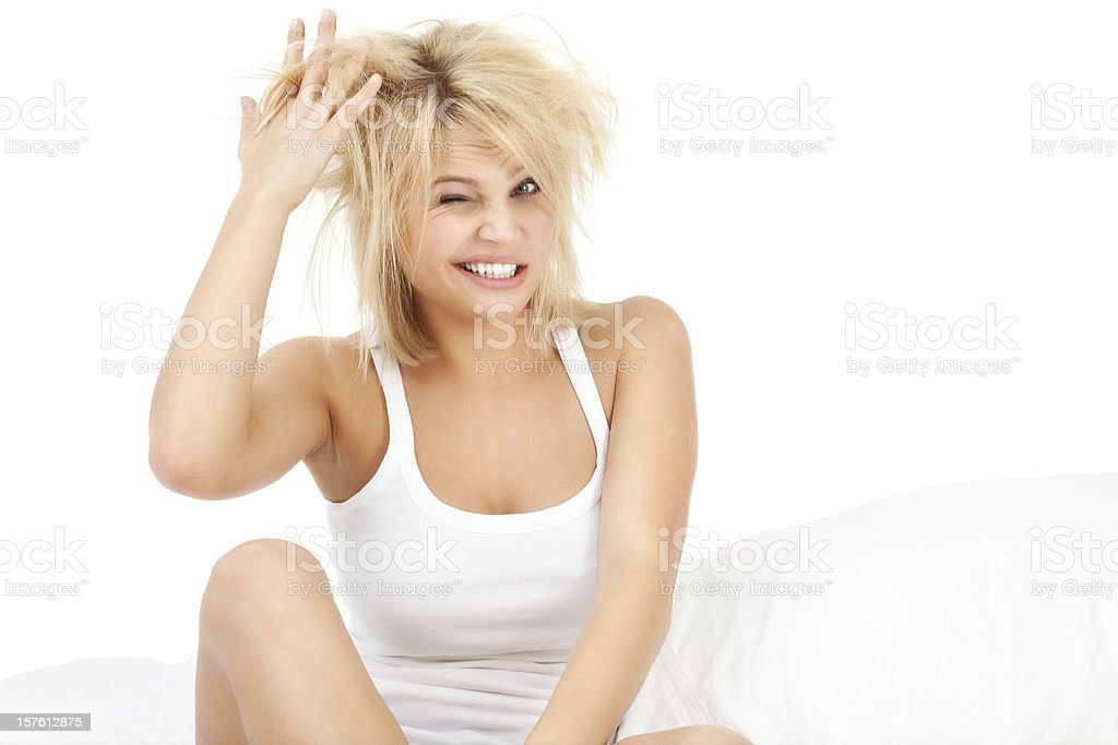 Extreme Bed Head royalty-free stock photo