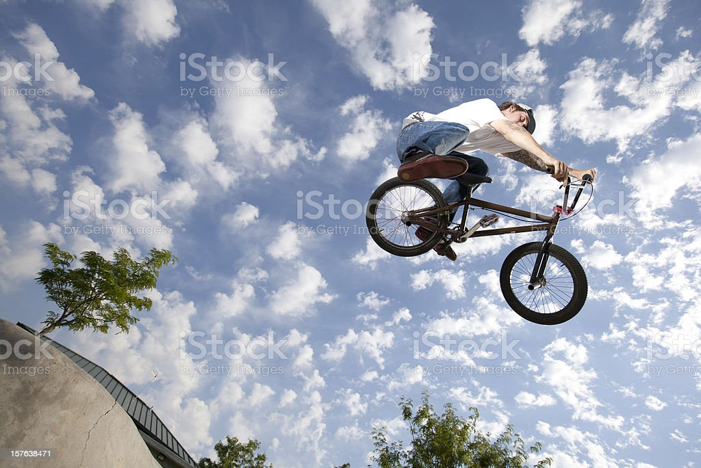 BMX Extreme Bike Rider royalty-free stock photo
