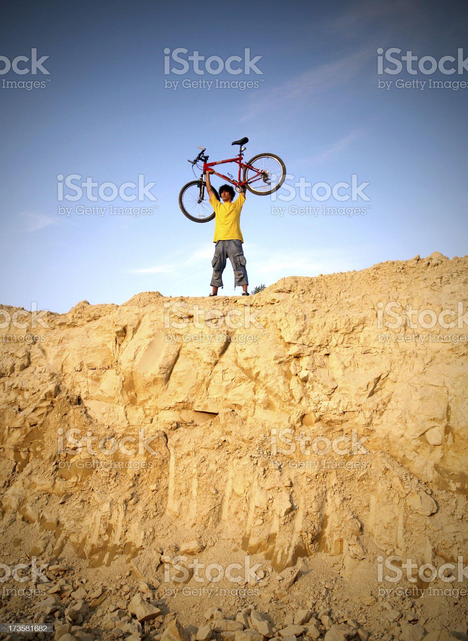 extreme biker royalty-free stock photo