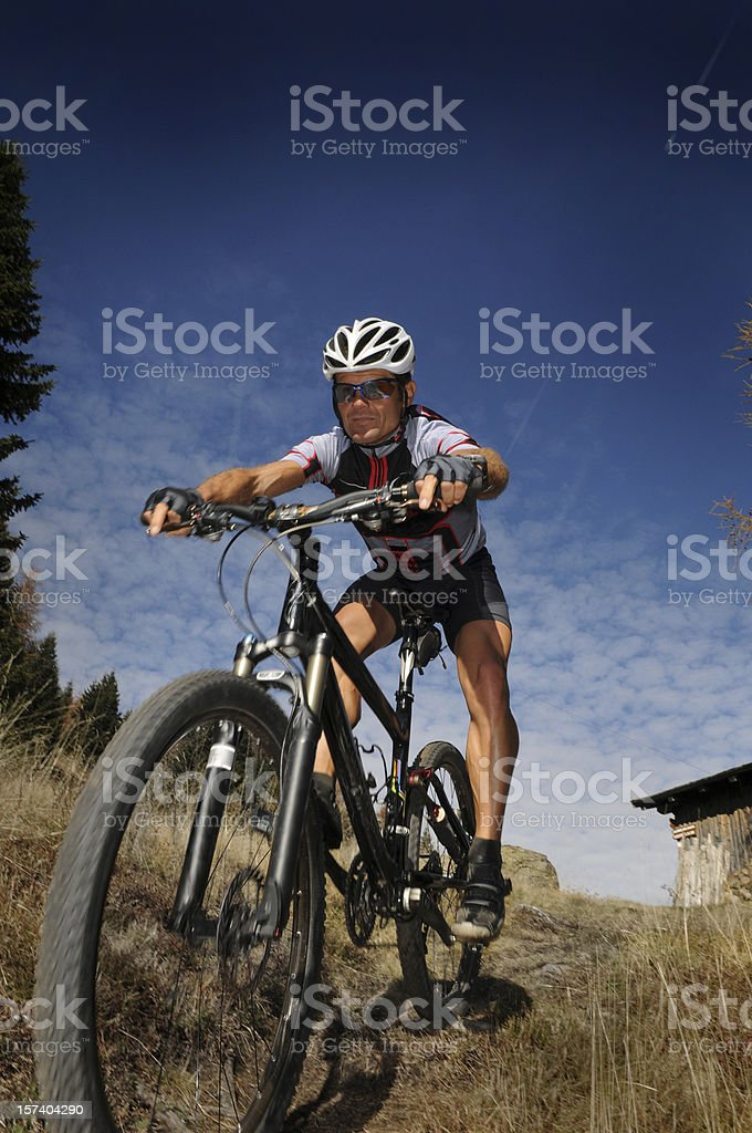 Extreme Biking royalty-free stock photo