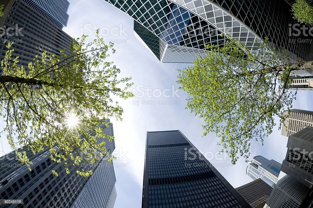 Extreme Buildings` royalty-free stock photo