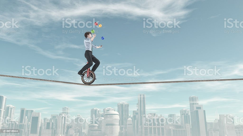 Extreme business man stock photo