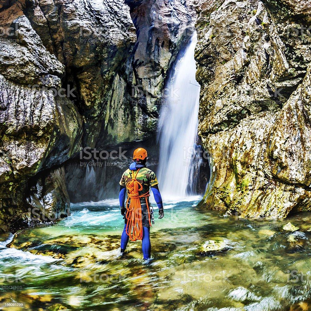 Extreme Canyoning royalty-free stock photo