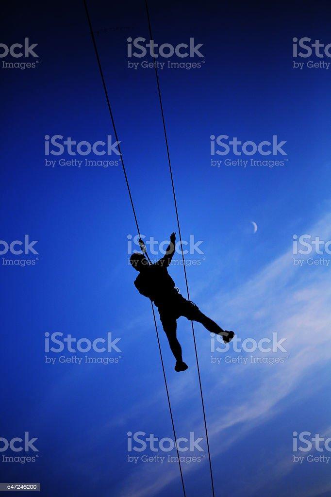 Extreme climbers stock photo