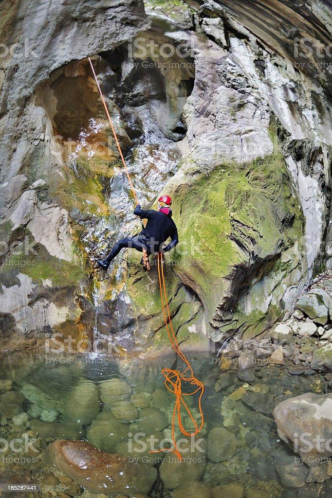 Extreme Climbing royalty-free stock photo