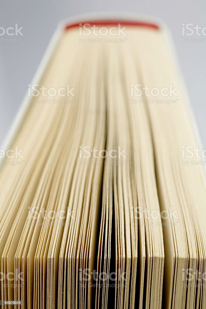 Extreme close-up of a white book royalty-free stock photo