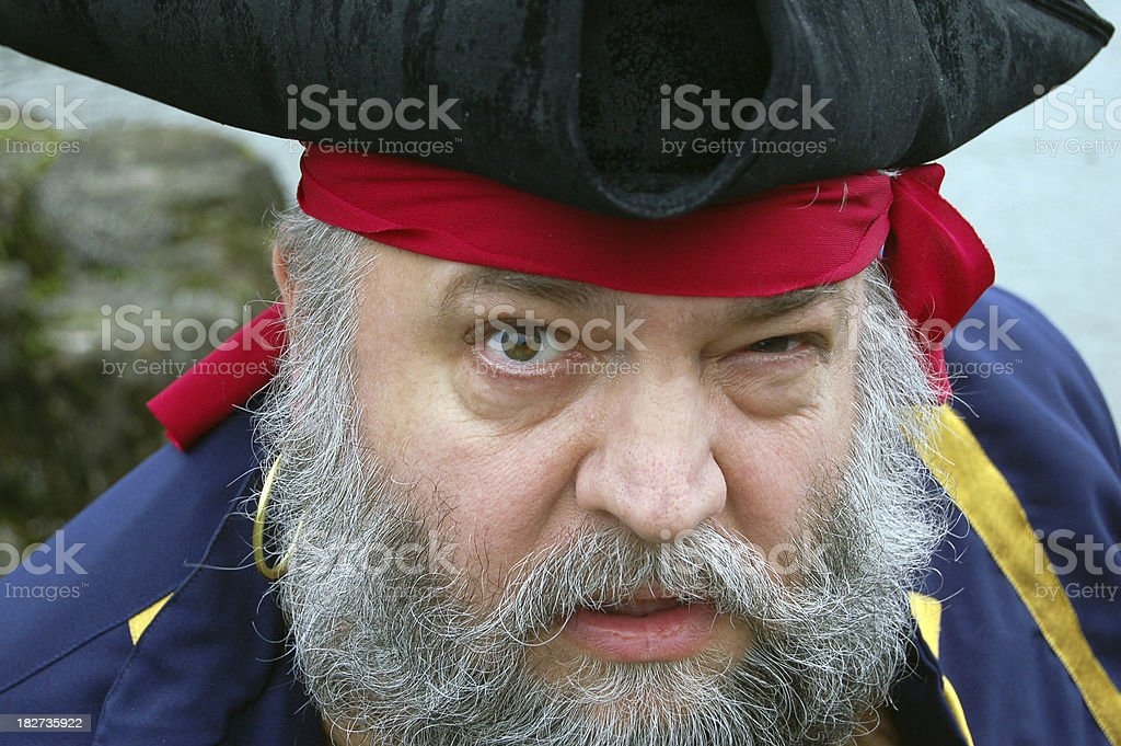 Extreme Close-up of Pirate stock photo