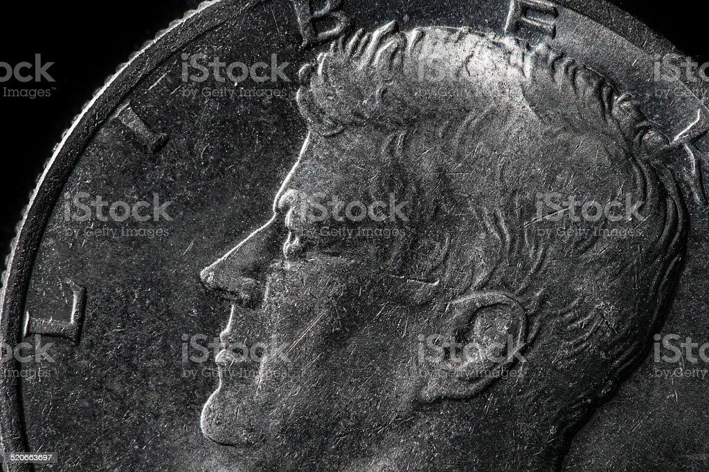 Extreme coin macro stock photo