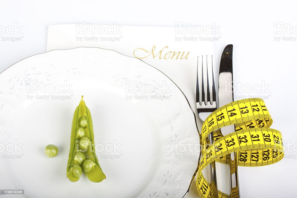 Extreme dieting stock photo
