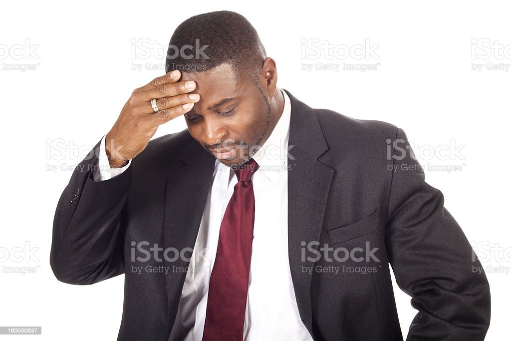 Extreme disappointment royalty-free stock photo