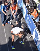 Extreme effort by Athletes during the 34th Athens Classic Marathon