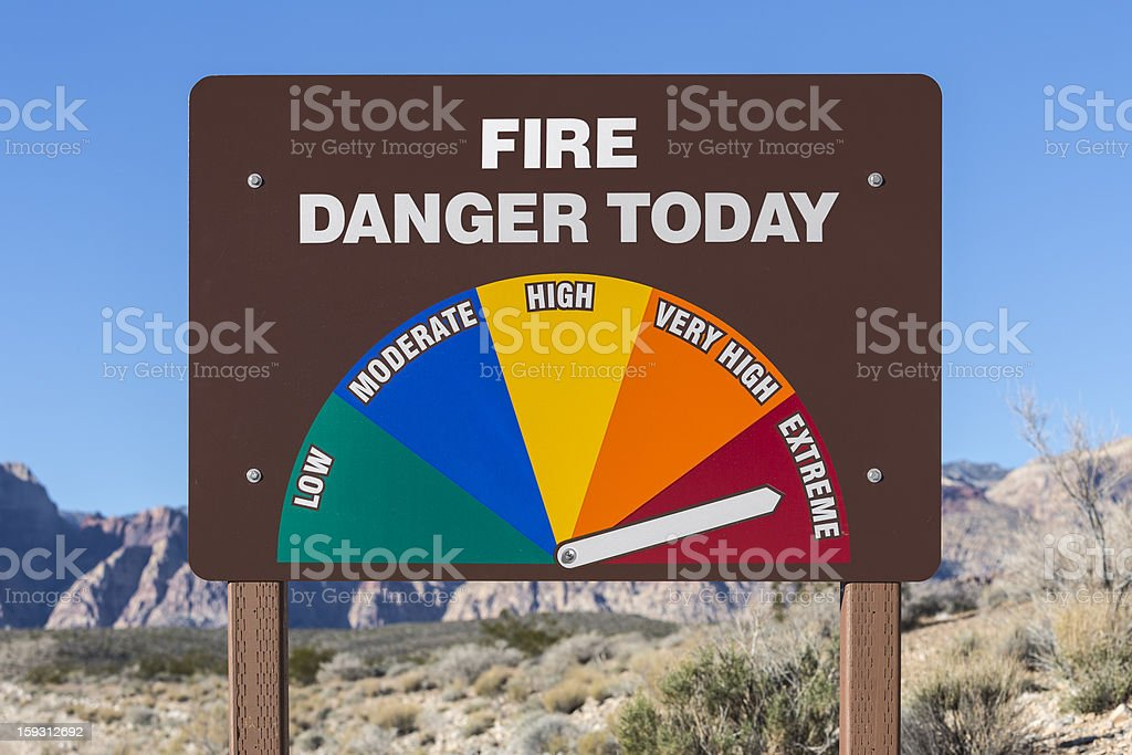 Extreme Fire Danger Today Sign royalty-free stock photo
