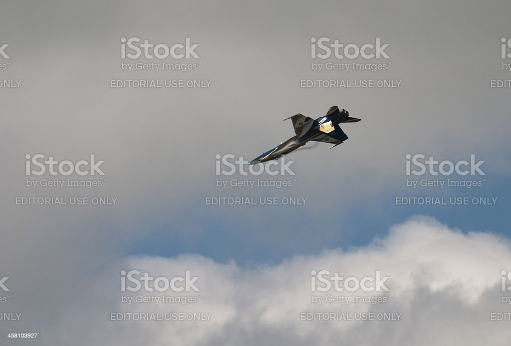 Extreme Flight in a CF-18 stock photo