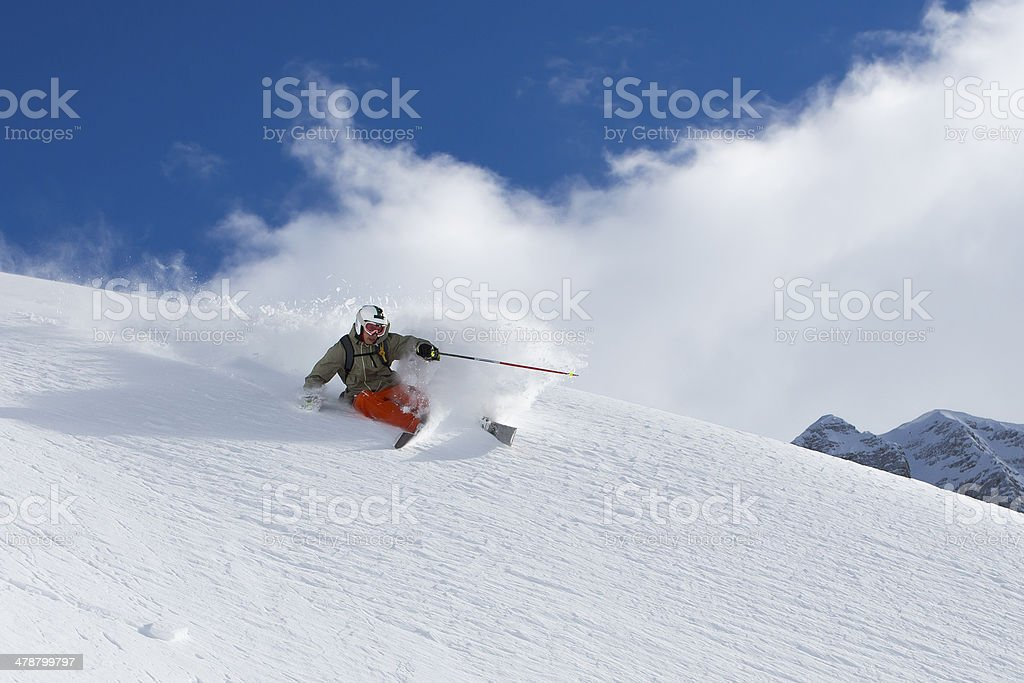 Extreme free riding stock photo