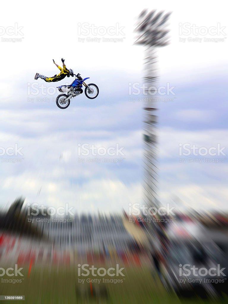 Extreme Freestyle Motorcross FMX royalty-free stock photo