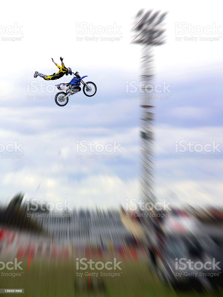 Extreme Freestyle Motorcross FMX stock photo