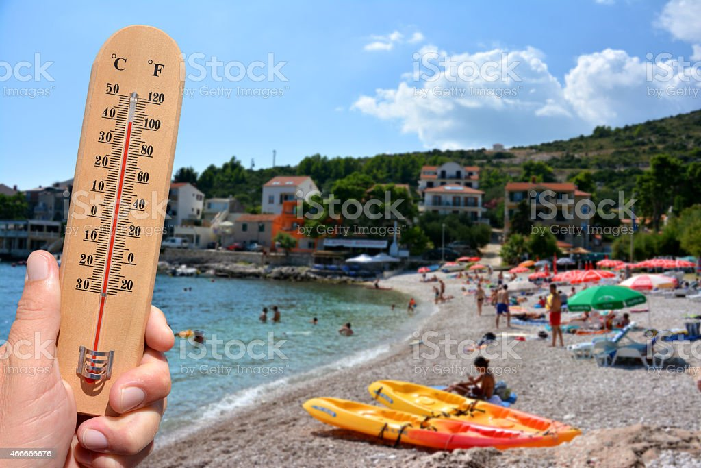 Extreme hot summer warning stock photo