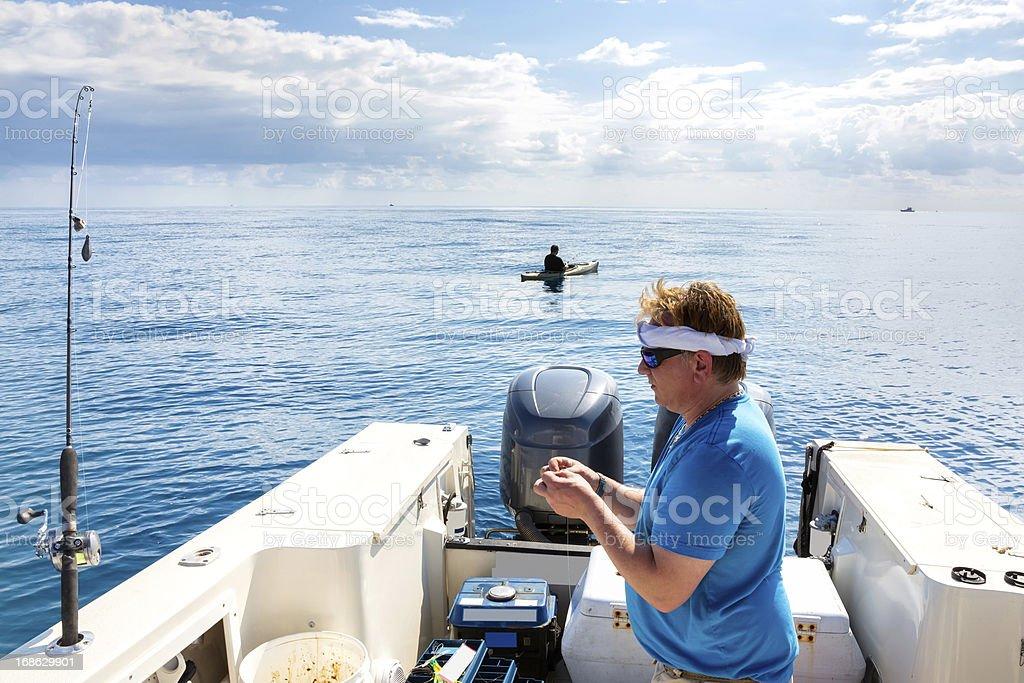 Extreme Kayak Fishing stock photo
