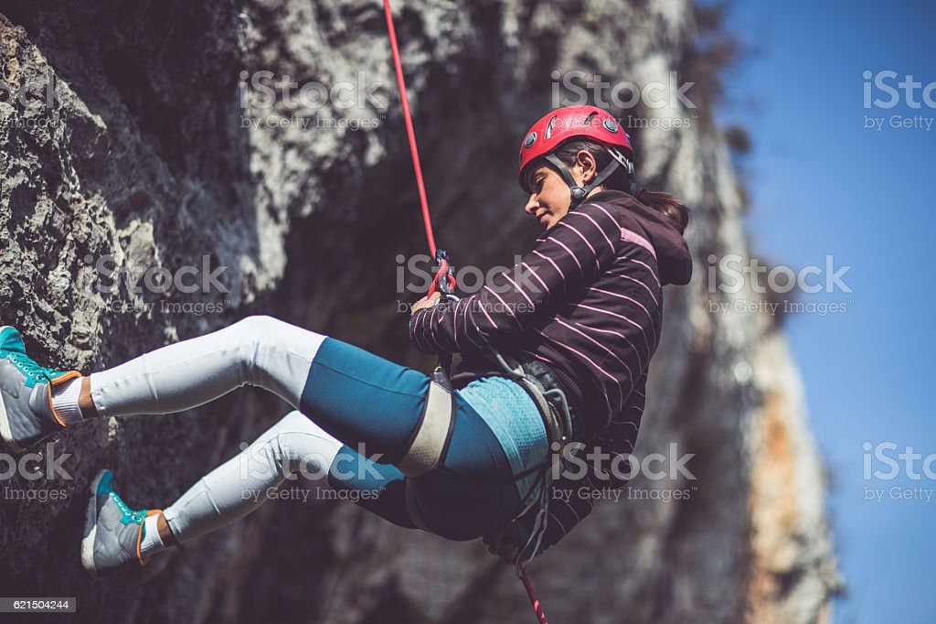 Extreme lover of extreme sports stock photo