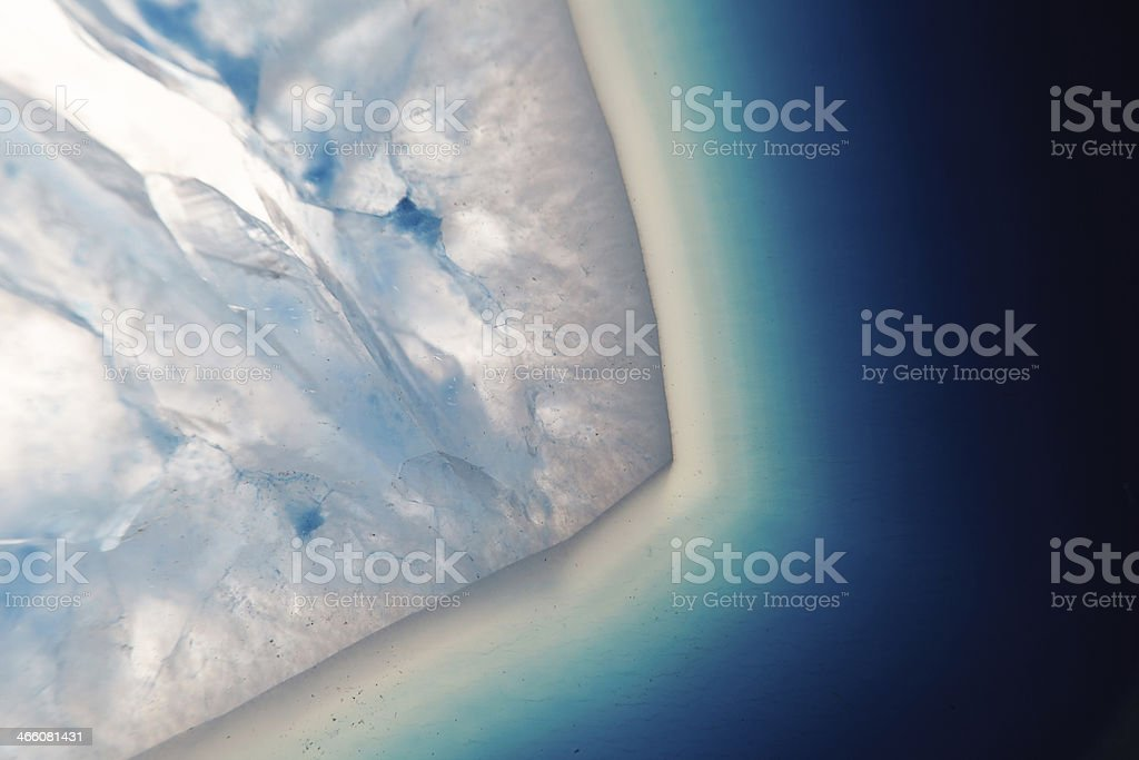 Extreme macro of blue agate mineral stock photo