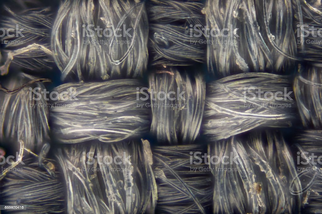 Extreme magnification - Dirty gray knitted fabric texture details stock photo