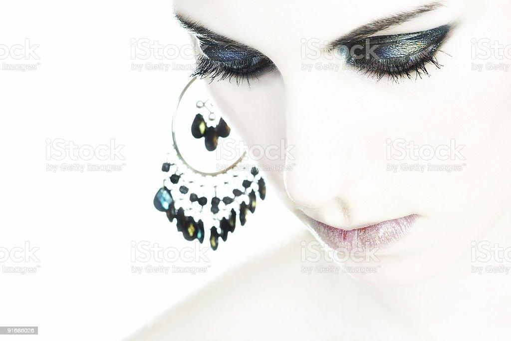 Extreme make-up shoot royalty-free stock photo