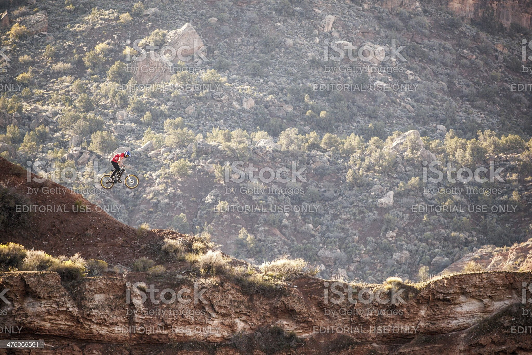 extreme mountain biking royalty-free stock photo