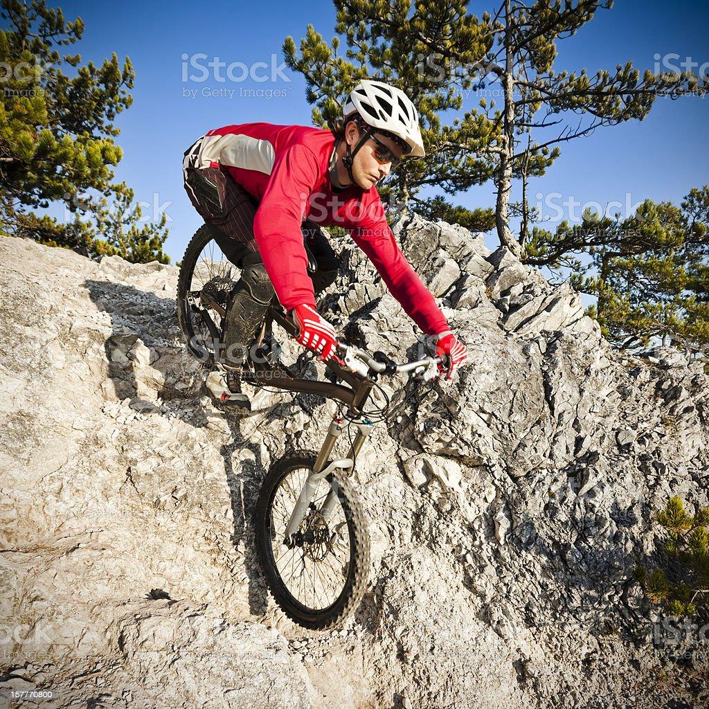 Extreme mountainbiker royalty-free stock photo