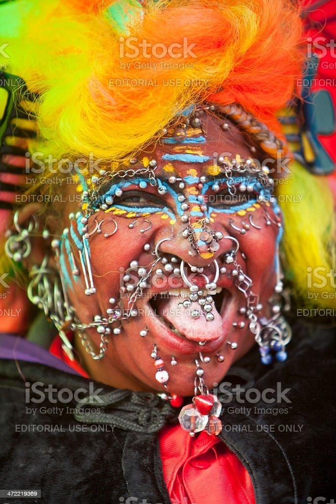 Extreme Piercing stock photo