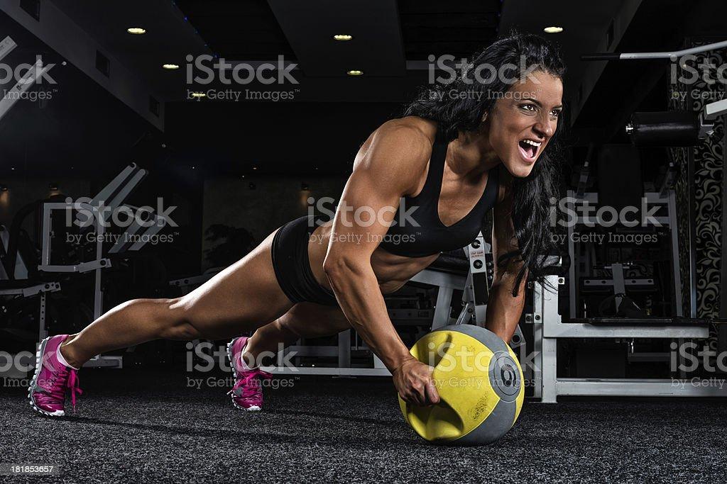 Extreme push-ups royalty-free stock photo