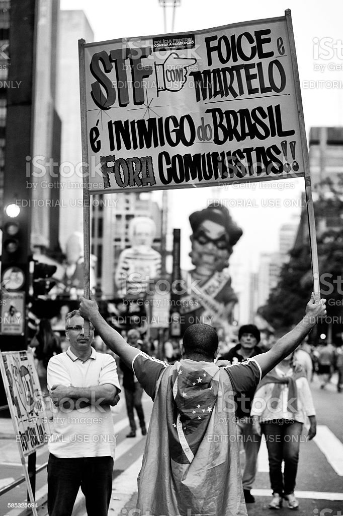 Extreme Right in Brazil stock photo