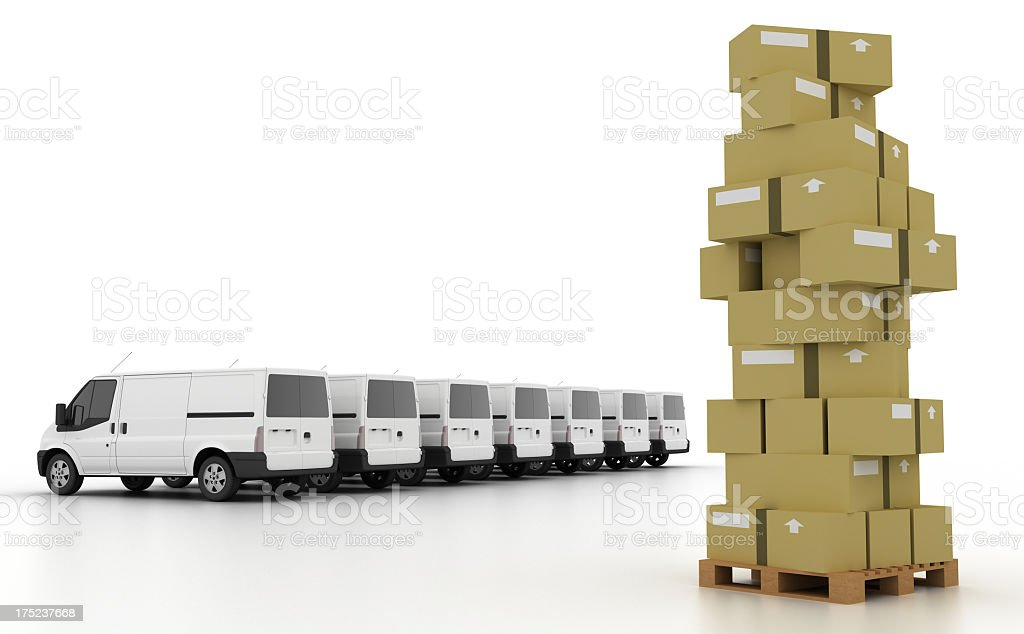 Extreme Service Delivery royalty-free stock photo