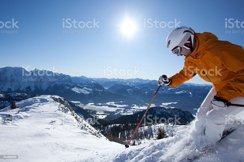 extreme skier in austrian alps royalty-free stock photo
