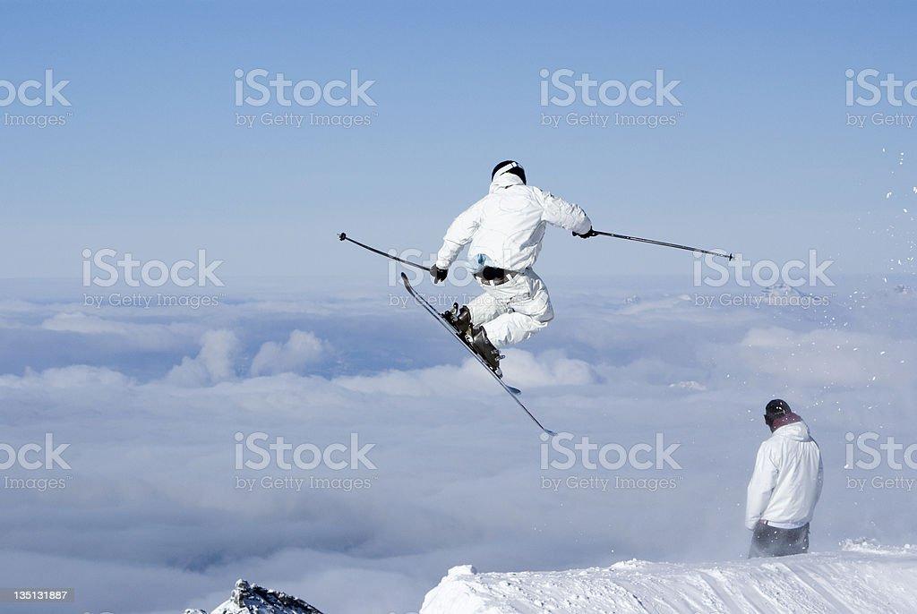 Extreme Skiier royalty-free stock photo