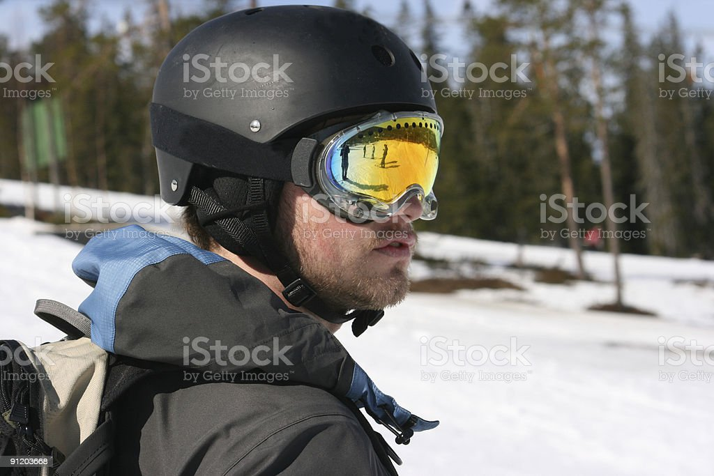 Extreme Skiier stock photo