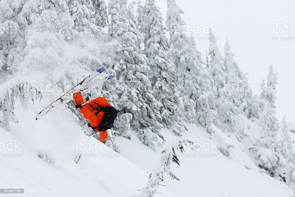Extreme Skiing stock photo