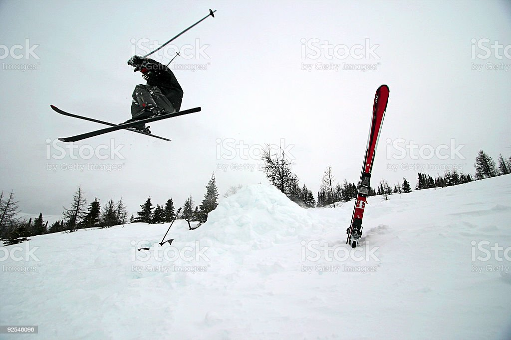 Extreme Skiing royalty-free stock photo
