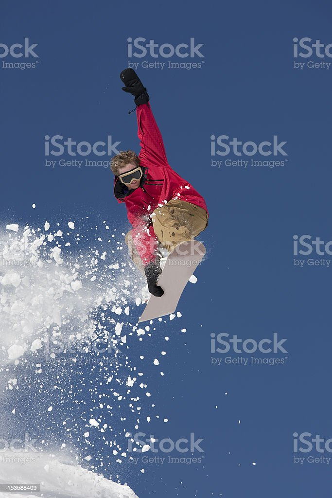 Extreme Snowboard Jump royalty-free stock photo