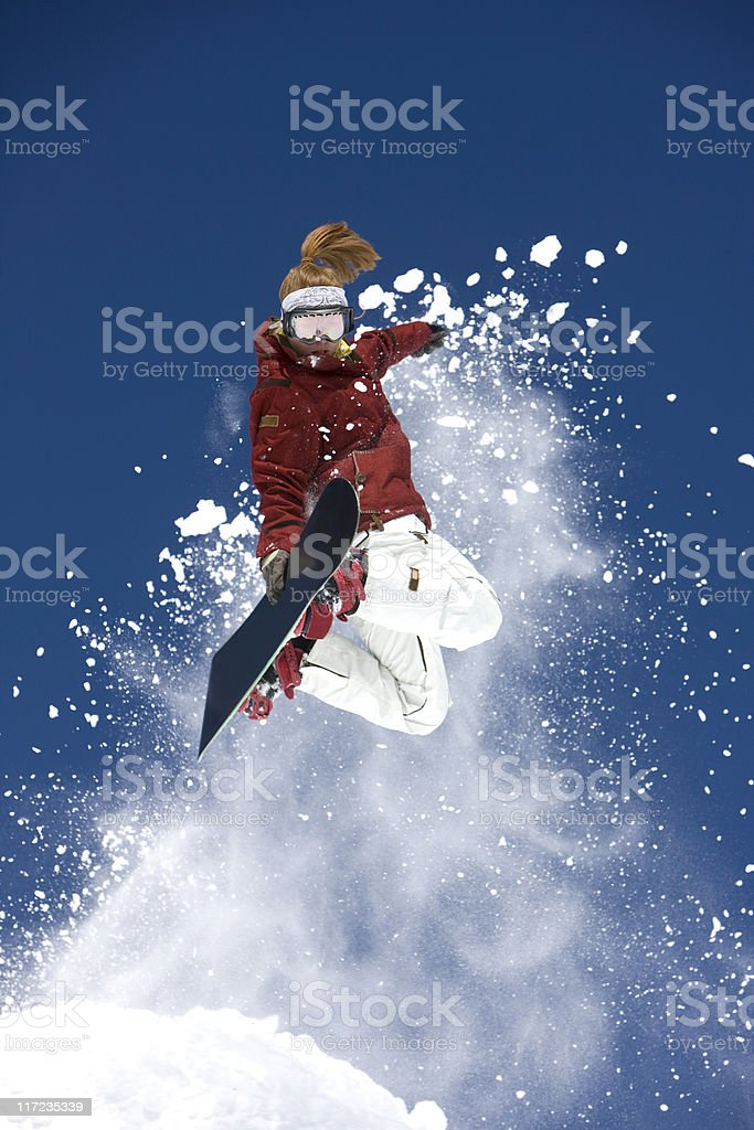 Extreme Snowboarder royalty-free stock photo