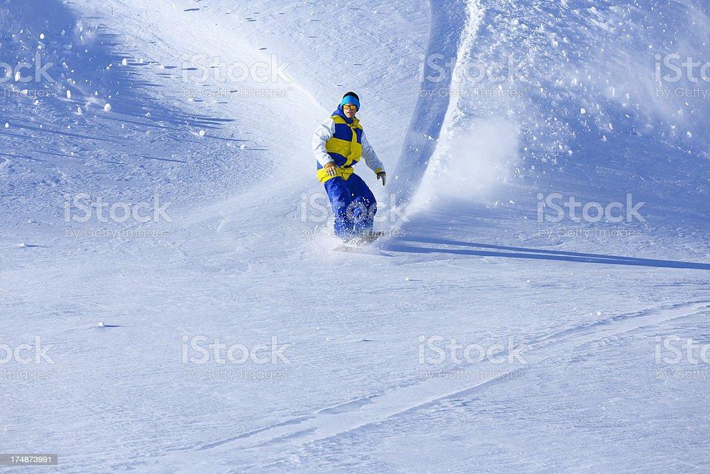 Extreme Snowboarding royalty-free stock photo