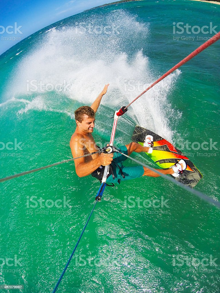 Extreme Sport, Kiteboarding stock photo