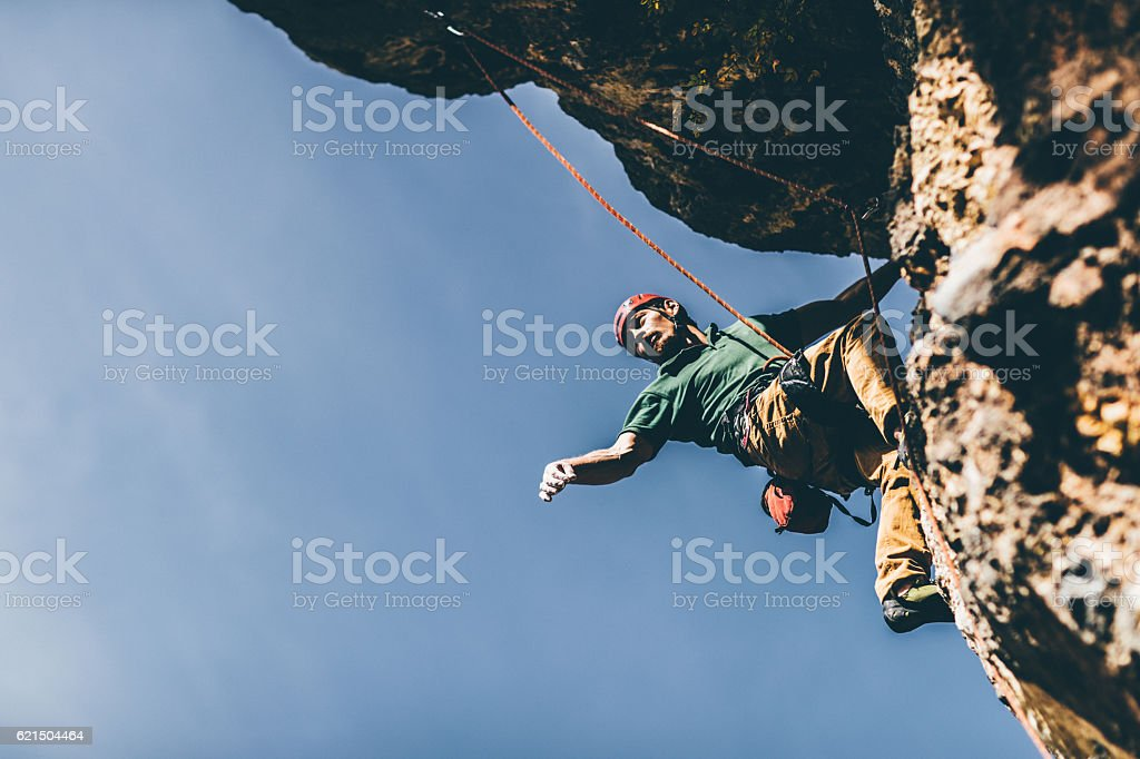 Extreme sport lover stock photo