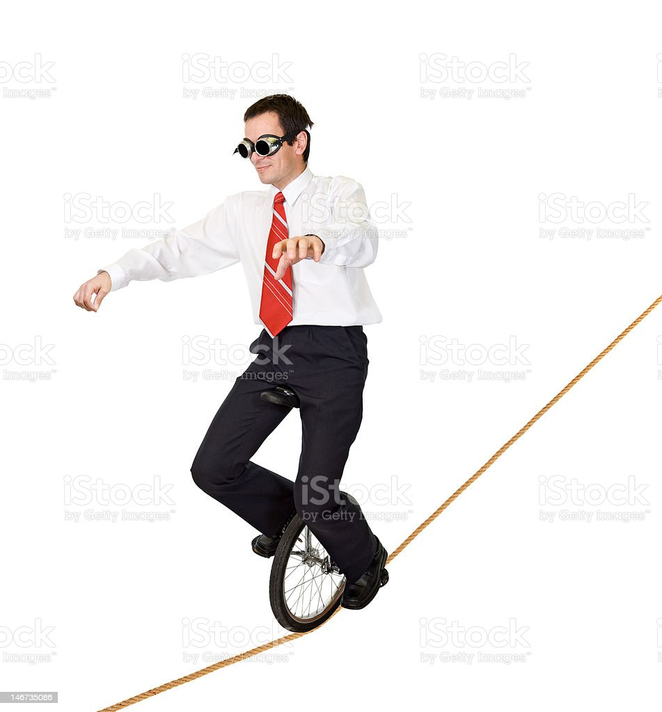 Extreme sport or reckless business stock photo