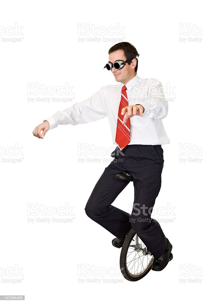 Extreme sport or reckless business - slight motion blur stock photo