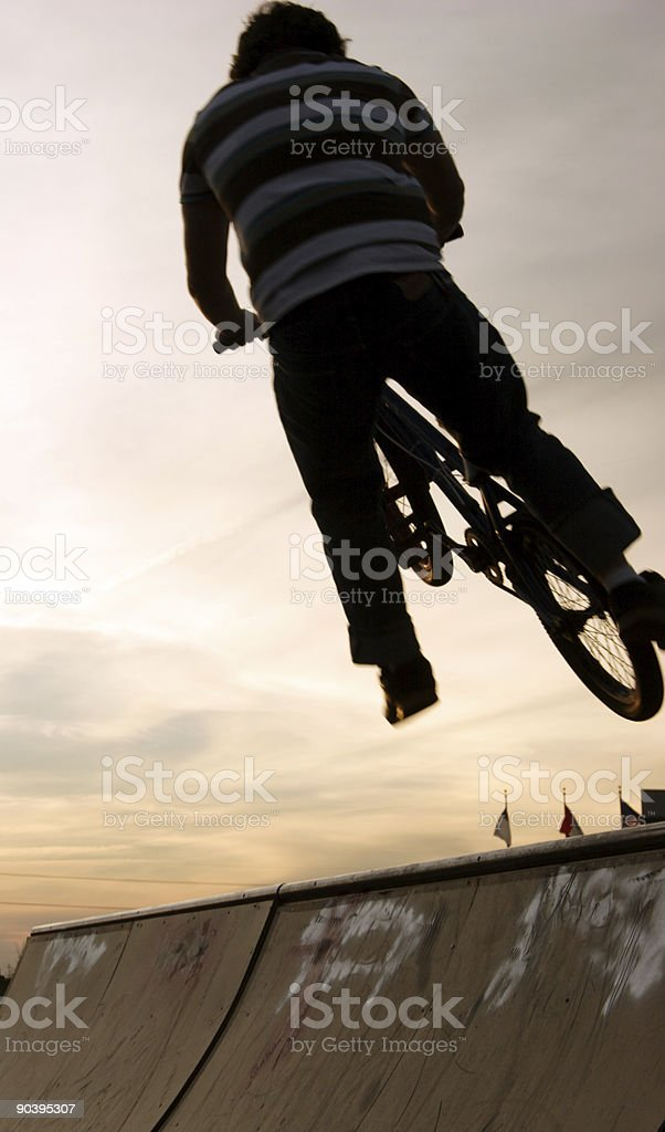 extreme sports scenes - bike jump royalty-free stock photo